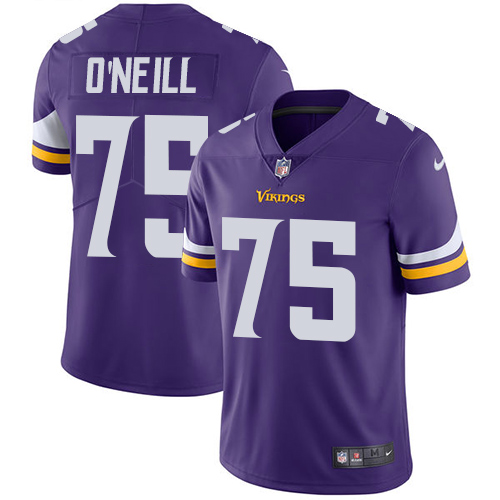 Minnesota Vikings 75 Limited Brian O Neill Purple Nike NFL Home Men Jersey Vapor Untouchable