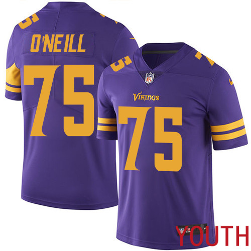 Minnesota Vikings 75 Limited Brian O Neill Purple Nike NFL Youth Jersey Rush Vapor Untouchable