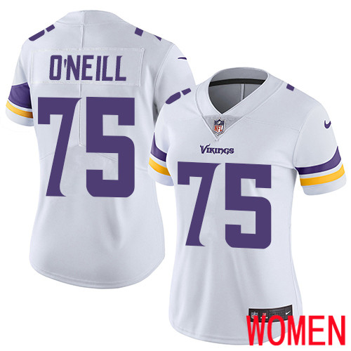Minnesota Vikings 75 Limited Brian O Neill White Nike NFL Road Women Jersey Vapor Untouchable