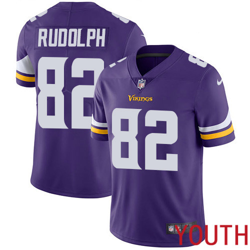 Minnesota Vikings 82 Limited Kyle Rudolph Purple Nike NFL Home Youth Jersey Vapor Untouchable