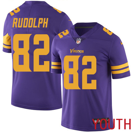 Minnesota Vikings 82 Limited Kyle Rudolph Purple Nike NFL Youth Jersey Rush Vapor Untouchable