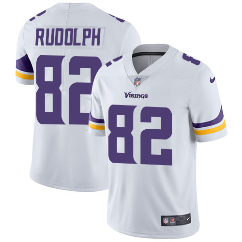 Minnesota Vikings 82 Limited Kyle Rudolph White Nike NFL Road Men Jersey Vapor Untouchable