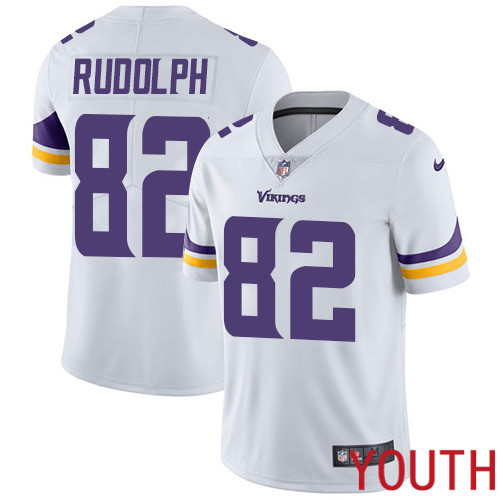 Minnesota Vikings 82 Limited Kyle Rudolph White Nike NFL Road Youth Jersey Vapor Untouchable