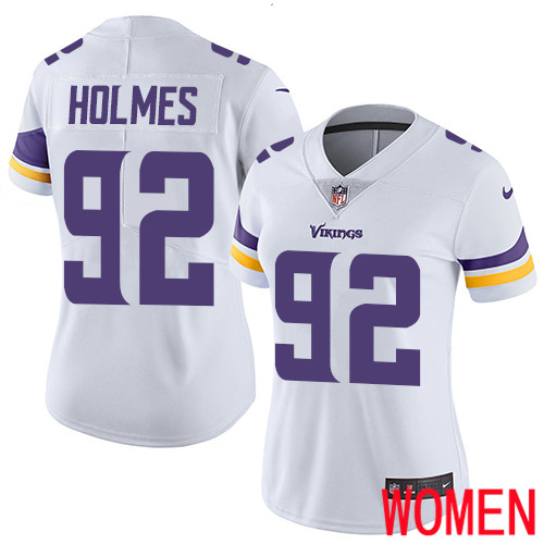 Minnesota Vikings 92 Limited Jalyn Holmes White Nike NFL Road Women Jersey Vapor Untouchable