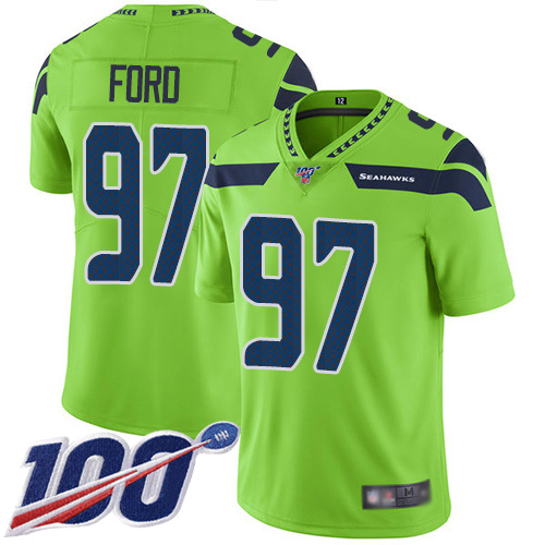 Seattle Seahawks Limited Green Men Poona Ford Jersey NFL Football 97 100th Season Rush Vapor Untouchable