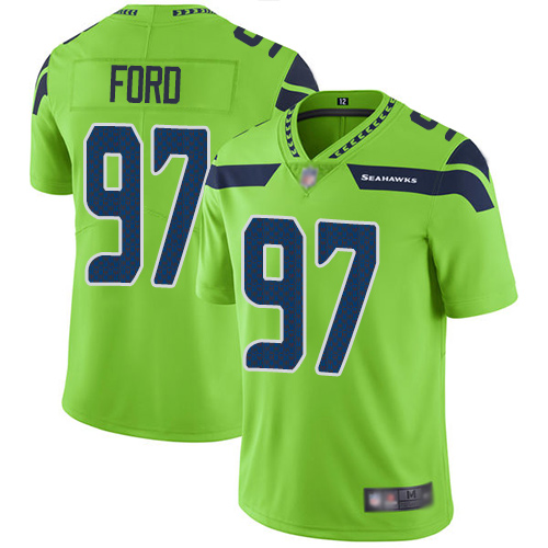 Seattle Seahawks Limited Green Men Poona Ford Jersey NFL Football 97 Rush Vapor Untouchable