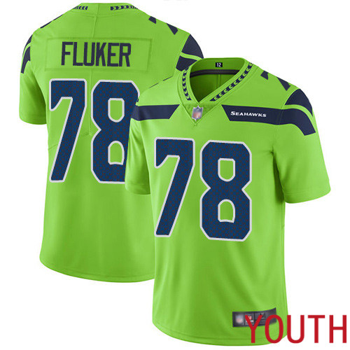 Seattle Seahawks Limited Green Youth D.J. Fluker Jersey NFL Football 78 Rush Vapor Untouchable