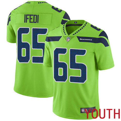 Seattle Seahawks Limited Green Youth Germain Ifedi Jersey NFL Football 65 Rush Vapor Untouchable