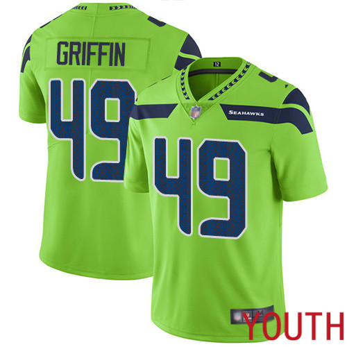 Seattle Seahawks Limited Green Youth Shaquem Griffin Jersey NFL Football 49 Rush Vapor Untouchable