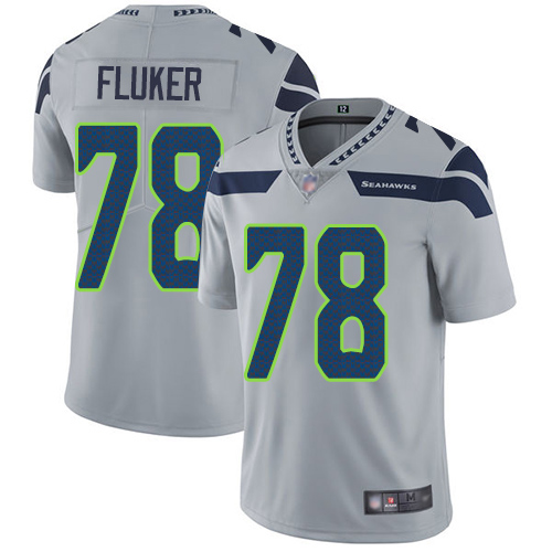 Seattle Seahawks Limited Grey Men D.J. Fluker Alternate Jersey NFL Football 78 Vapor Untouchable