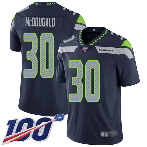 Seattle Seahawks Limited Navy Blue Men Bradley McDougald Home Jersey NFL Football 30 100th Season Vapor Untouchable