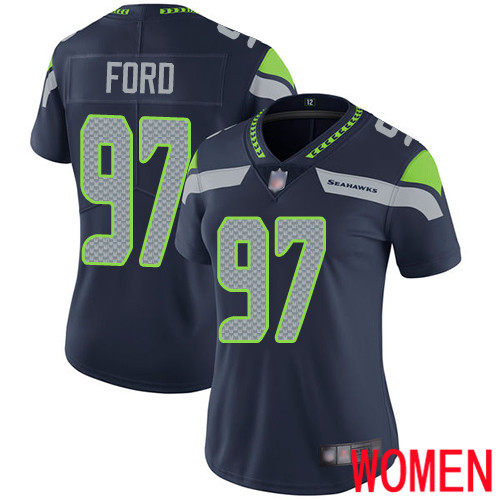 Wholesale Seattle Seahawks Limited Navy Blue Women Poona Ford Home Jersey NFL Football 97 Vapor Untouchable