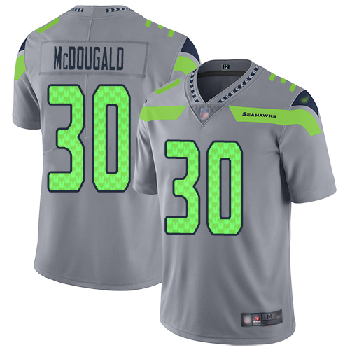 Seattle Seahawks Limited Silver Men Bradley McDougald Jersey NFL Football 30 Inverted Legend