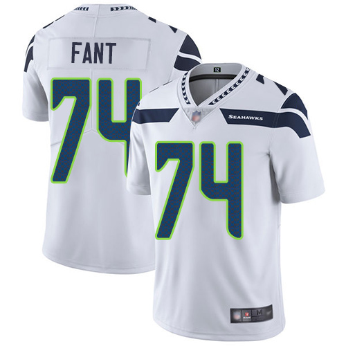 Seattle Seahawks Limited White Men George Fant Road Jersey NFL Football 74 Vapor Untouchable