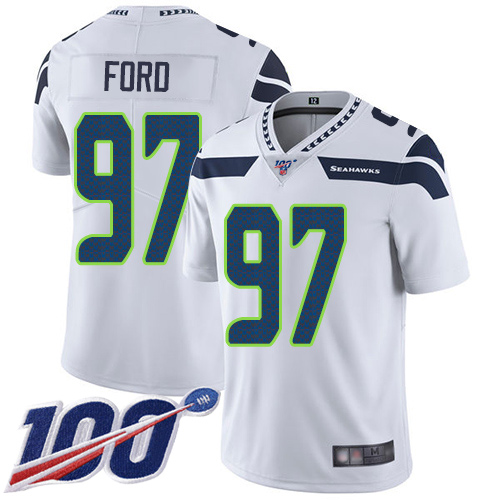 Wholesale Seattle Seahawks Limited White Men Poona Ford Road Jersey NFL Football 97 100th Season Vapor Untouchable