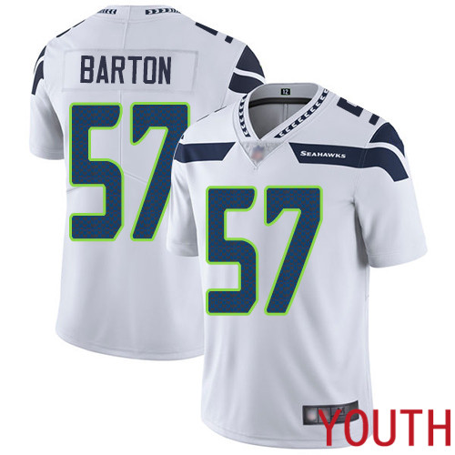 Seattle Seahawks Limited White Youth Cody Barton Road Jersey NFL Football 57 Vapor Untouchable