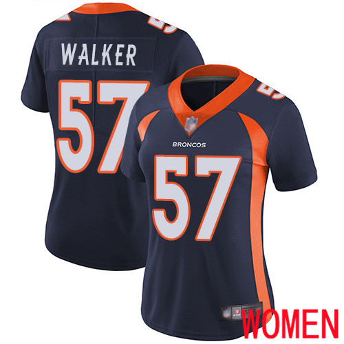 Women Denver Broncos 57 Demarcus Walker Navy Blue Alternate Vapor Untouchable Limited Player Football NFL Jersey