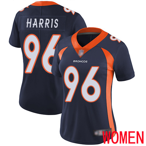 Women Denver Broncos 96 Shelby Harris Navy Blue Alternate Vapor Untouchable Limited Player Football NFL Jersey