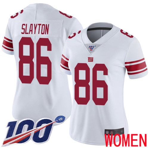 Wholesale Women New York Giants 86 Darius Slayton White Vapor Untouchable Limited Player 100th Season Football NFL Jersey