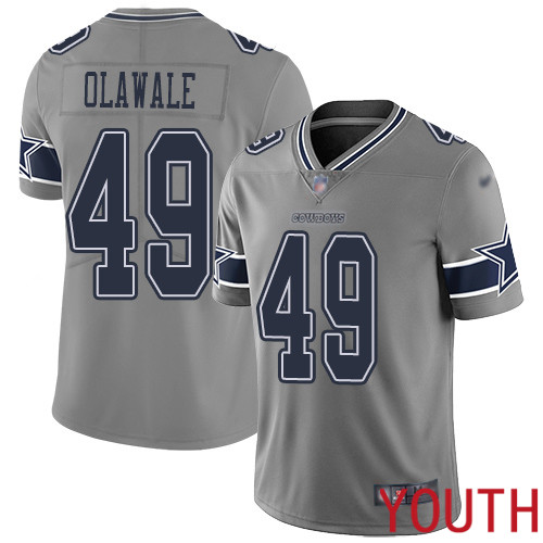 Youth Dallas Cowboys Limited Gray Jamize Olawale 49 Inverted Legend NFL Jersey