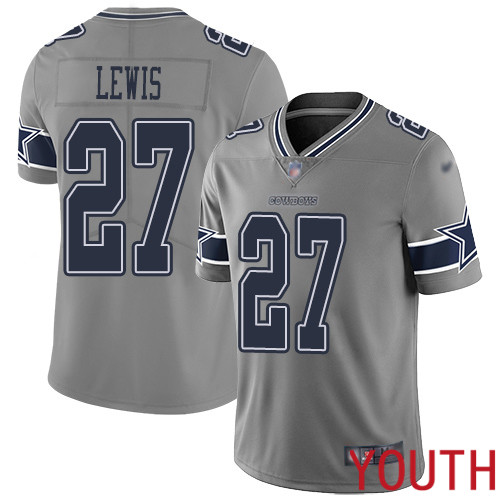 Youth Dallas Cowboys Limited Gray Jourdan Lewis 27 Inverted Legend NFL Jersey