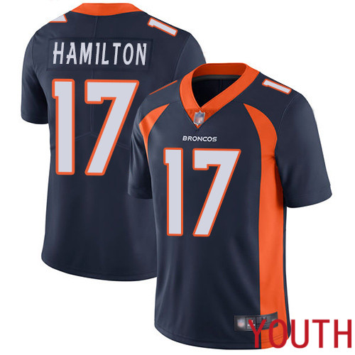 Youth Denver Broncos 17 DaeSean Hamilton Navy Blue Alternate Vapor Untouchable Limited Player Football NFL Jersey