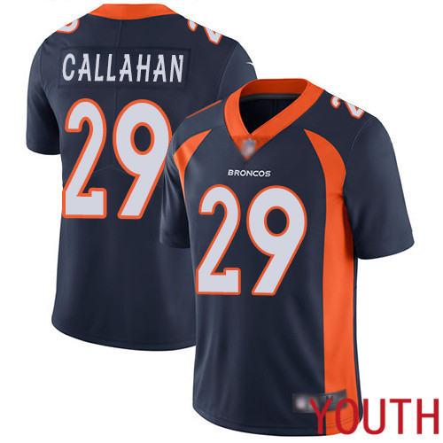 Youth Denver Broncos 29 Bryce Callahan Navy Blue Alternate Vapor Untouchable Limited Player Football NFL Jersey