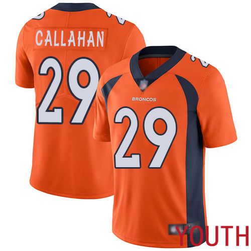 Youth Denver Broncos 29 Bryce Callahan Orange Team Color Vapor Untouchable Limited Player Football NFL Jersey