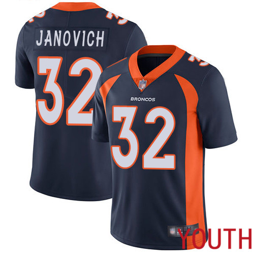 Youth Denver Broncos 32 Andy Janovich Navy Blue Alternate Vapor Untouchable Limited Player Football NFL Jersey