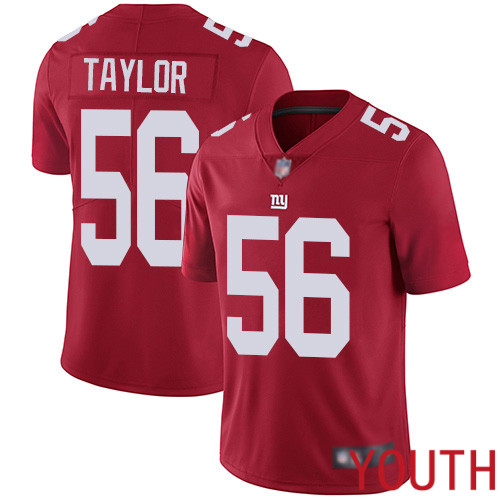 Youth New York Giants 56 Lawrence Taylor Red Limited Red Inverted Legend Football NFL Jersey