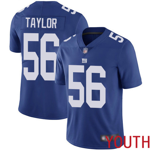 Youth New York Giants 56 Lawrence Taylor Royal Blue Team Color Vapor Untouchable Limited Player Football NFL Jersey