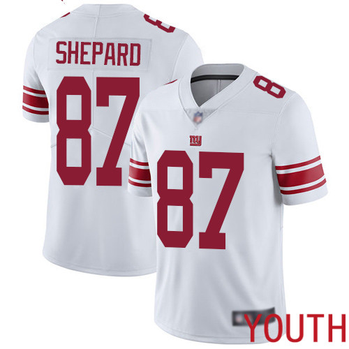 Youth New York Giants 87 Sterling Shepard White Vapor Untouchable Limited Player Football NFL Jersey