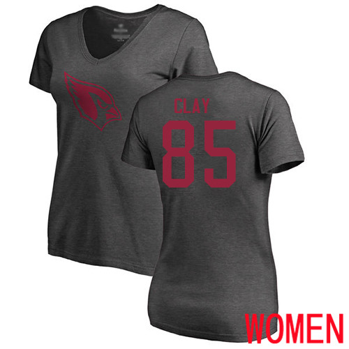Arizona Cardinals Ash Women Charles Clay One Color NFL Football 85 T Shirt