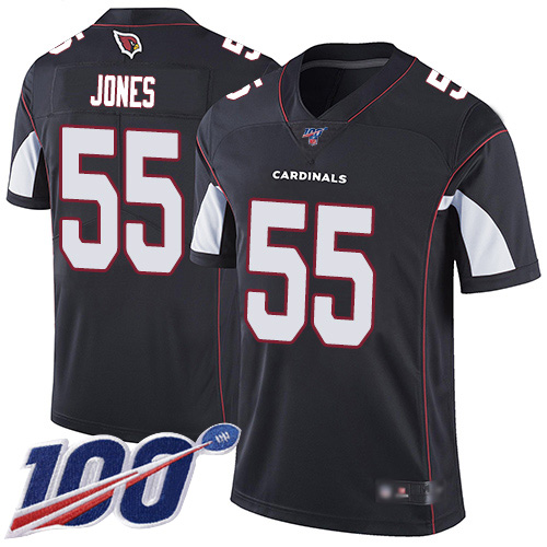 Arizona Cardinals Limited Black Men Chandler Jones Alternate Jersey NFL Football 55 100th Season Vapor Untouchable