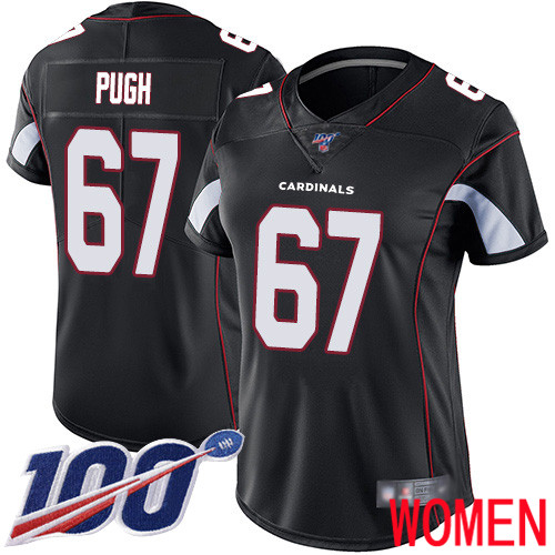 Arizona Cardinals Limited Black Women Justin Pugh Alternate Jersey NFL Football 67 100th Season Vapor Untouchable