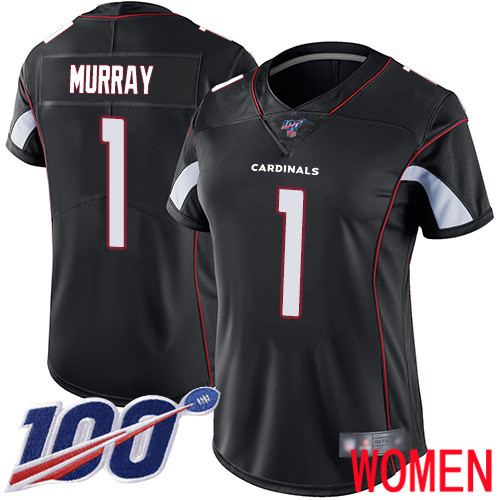 Arizona Cardinals Limited Black Women Kyler Murray Alternate Jersey NFL Football 1 100th Season Vapor Untouchable