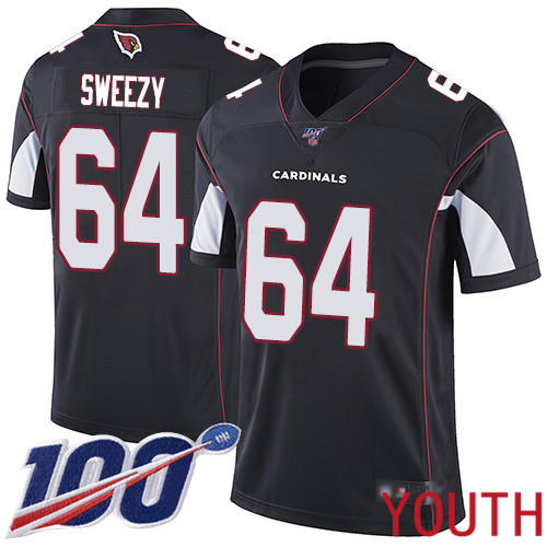 Arizona Cardinals Limited Black Youth J.R. Sweezy Alternate Jersey NFL Football 64 100th Season Vapor Untouchable