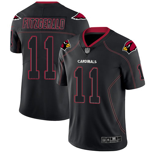 Arizona Cardinals Limited Lights Out Black Men Larry Fitzgerald Jersey NFL Football 11 Rush