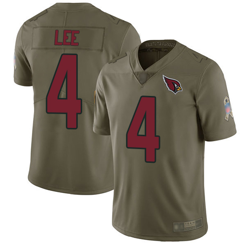 Arizona Cardinals Limited Olive Men Andy Lee Jersey NFL Football 4 2017 Salute to Service