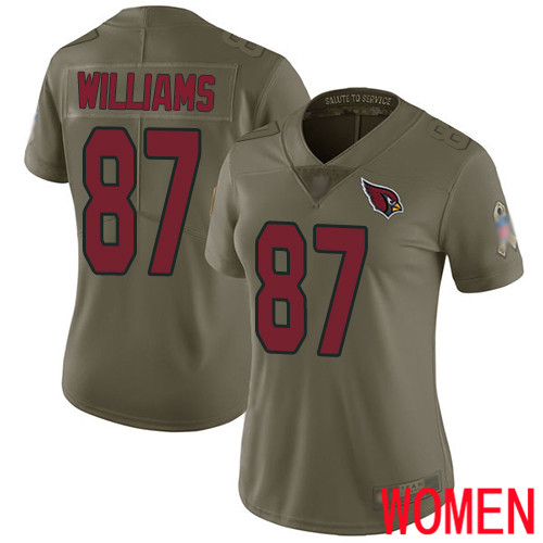 Arizona Cardinals Limited Olive Women Maxx Williams Jersey NFL Football 87 2017 Salute to Service