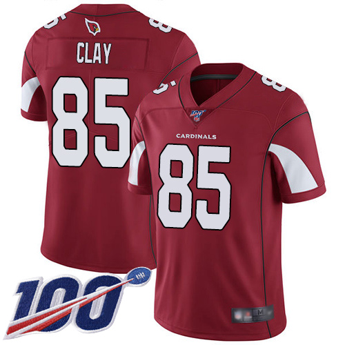 Arizona Cardinals Limited Red Men Charles Clay Home Jersey NFL Football 85 100th Season Vapor Untouchable