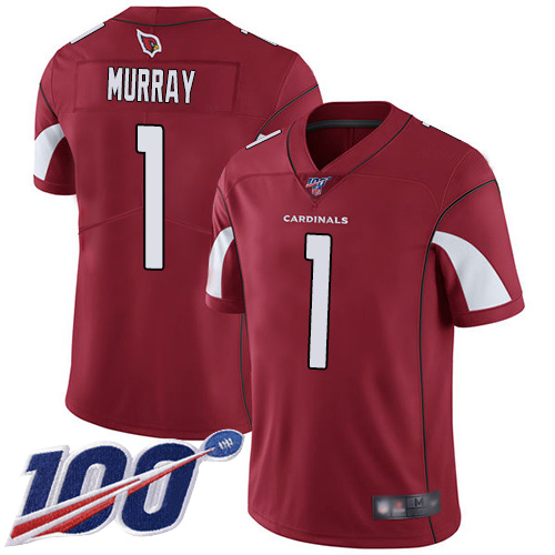 Arizona Cardinals Limited Red Men Kyler Murray Home Jersey NFL Football 1 100th Season Vapor Untouchable