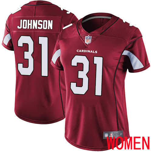 Arizona Cardinals Limited Red Women David Johnson Home Jersey NFL Football 31 Vapor Untouchable