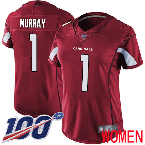 Arizona Cardinals Limited Red Women Kyler Murray Home Jersey NFL Football 1 100th Season Vapor Untouchable