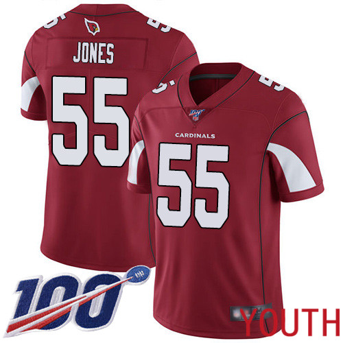 Arizona Cardinals Limited Red Youth Chandler Jones Home Jersey NFL Football 55 100th Season Vapor Untouchable