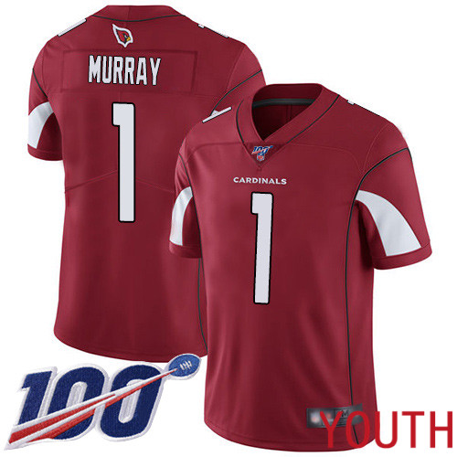 Arizona Cardinals Limited Red Youth Kyler Murray Home Jersey NFL Football 1 100th Season Vapor Untouchable