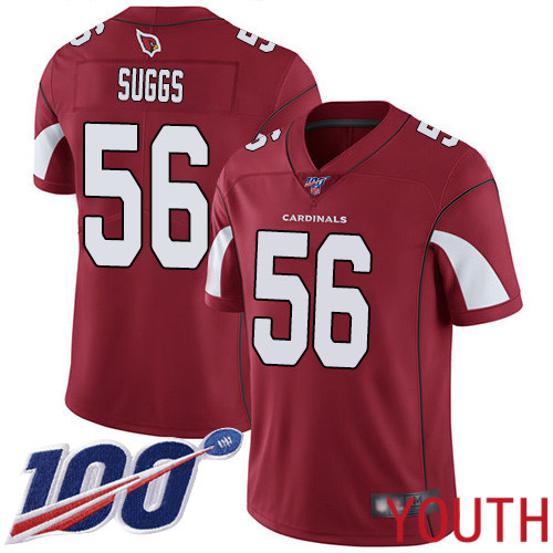 Arizona Cardinals Limited Red Youth Terrell Suggs Home Jersey NFL Football 56 100th Season Vapor Untouchable