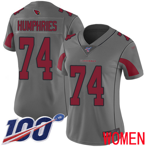 Arizona Cardinals Limited Silver Women D.J. Humphries Jersey NFL Football 74 100th Season Inverted Legend