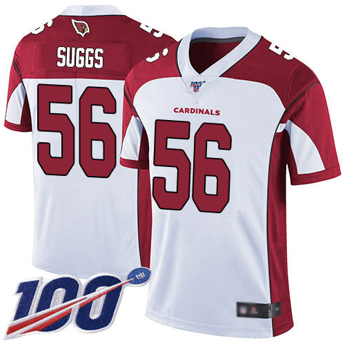 Arizona Cardinals Limited White Men Terrell Suggs Road Jersey NFL Football 56 100th Season Vapor Untouchable