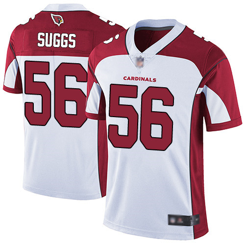 Arizona Cardinals Limited White Men Terrell Suggs Road Jersey NFL Football 56 Vapor Untouchable